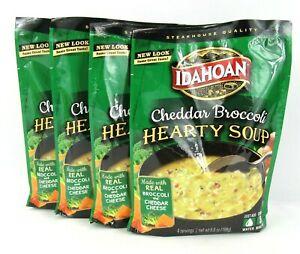 Idahoan Steakhouse Hearty Cheddar Broccoli Potato Soup Mix 6.6 oz 4 Packs