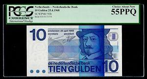 Netherlands 🇳🇱 1968 - 10 Gulden Banknote P#91b - Choice About UNC 55 PPQ/EPQ