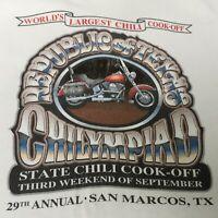 Republic Texas Chilympiad Chili Cook Off Mens XL San Marcos TX 29th Annual 1999
