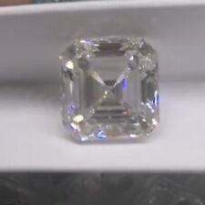 White Asscher Cut D Color VVS1 Moissanite Stone Excellent Cut With Certificate