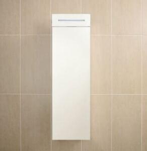 LED Illuminated Luxury Stainless Steel Mirrored Bathroom Cabinet Right Hand