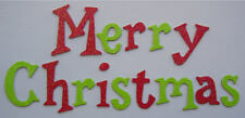 Doodlebug *Merry Christmas* Glitter Chipboard Letters