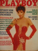 Playboy December 1983 | Joan Collins Terry Nihen Sex Stars      #1672 +