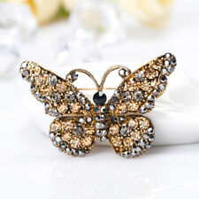Insect Fashion Jewelry Women Gifts Metal Brooch Delicate Rhinestone Butterfly