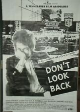 DON'T LOOK BACK/ BOB DYLAN/ D. A. PENNEBAKER/ DOCUMENTAIRE/ ROCK' ROLL