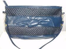 Ralfeaux Faux Leather Dark Blue Shoulder Bag Vintage 1970's Md in Taiwan, R O C