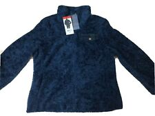 Pendleton Women Fuzzy Full Zip Coat Jacket 1219361 Dark Blue M
