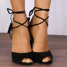 Lace Up Suede Strappy Sandals & Flip Flops for Women