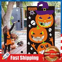 Halloween Games Party Decorations Pumpkin Party Kids Bean Bag Toss Game Black