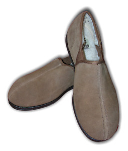 Mens Boys Slippers  Free Step SIMON Tan Suede Fur MRP £25 Sizes 7-12 Clearance