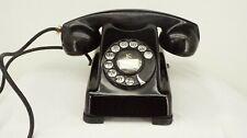 Antique Vintage 1930s Rotary Dial Telephone Art Deco Bakelite Kellogg 1000 PHONE