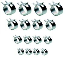 Fuel / Oil Line Clamps - 6mm/8mm/10mm/12mm - BZP - Pack of 16