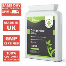D-Mannose 90 Capsules UTI Urinary Tract Cystitis Bladder Health Vegan