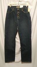 New Zena Snap Fly Jeans Womens size 8 Straight Leg