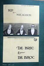 rare EO 1912 RIP & MAX AGHION : DE BRIC ET DE BROC humour caricature BIEN RELIÉ