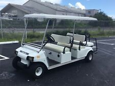 2005 White 6 Passenger Seat Gas club car DS Golf Cart people mover limo