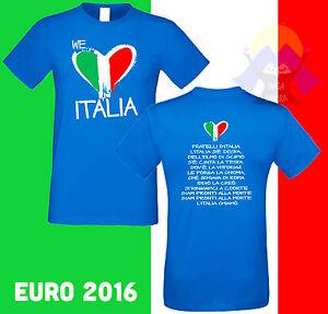 T-shirt NAZIONALE ITALIANA Europeo da CALCIO Stampa INNO Mondiale ITALIA Maglia