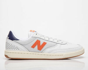 New Balance Numeric 440 Men's White Orange Low Lifestyle Skate Sneakers Shoes