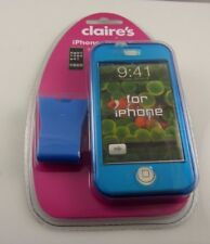 fits Iphone I phone hard case blue Claire's cell cover shield