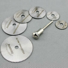 7PCS HSS Rotary Circular Saw Blades Cutting Discs Mandrel 22/25/32/35/44/50mm