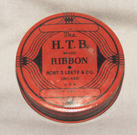 Vintage HTB Brand Typewriter Ribbon Collectible Tin Robt S Leete & Co