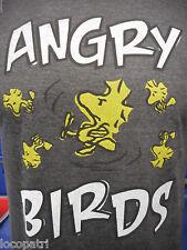 Mens Peanuts Brand Woodstock Angry Birds Shirt New L