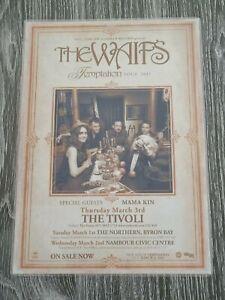 THE WAIFS - 2011 TEMPTATION AUSTRALIA Tour - Laminated Promo Tour Poster