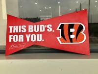Budweiser Bud Light Poster Beer Bar Vintage Metal Tin Sign Cincinnati Bengals
