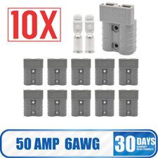 10pcs Anderson Batteriekabel Ladestecker 50A Steckverbindung grau A 6AWG LKW PKW