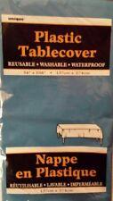 LARGE PLASTIC REUSABLE ROYAL BLUE PLAIN TABLE COVER NEW