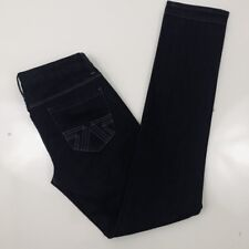 American Eagle Womens Jeans Size 6 Black Straight Leg Stretchy Lightly Distress