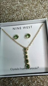 Nine West Ladies Earrings and Necklace SET Gold Filled