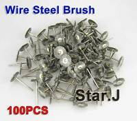 100 pcs NEW Wire Steel Brush Polishing Wheel for Rotary Tools