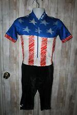 Louis Garneau Cycling Triathlon One piece suit, Patriotic theme Medium