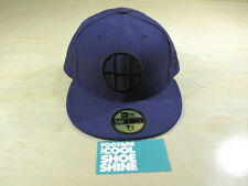 HUF SAN FRANCISCO H LOGO DIRTBAG CREW NEW ERA FITTED HAT PURPLE BLACK 7 1/2 SF