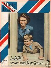 ▬►Marie France 443 de 1953 MODE FASHION_COURONNEMENT REINE ELIZABETH ANGLETERRE
