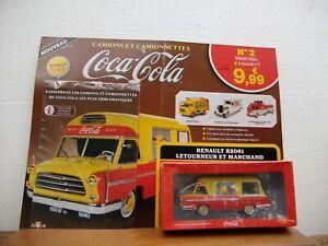 TEST Collection camions et camionnettes Coca Cola N°2 Renault R2061 avec livret