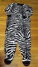 Nick & Nora Black White Zebra Footed Pajamas Sleep Pajama M Women