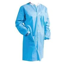 10 Defend X-LRG Jacket Lab Coat Dental Medical Vet Gown Disposable Knit collar
