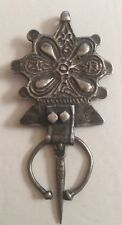 """Coin Reales Silver Pendant Over 4"""" Very Large Antique Morocco Fibula Berber"""