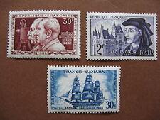 FRANCE neufs n° 1033 à 1035 (1955)