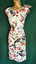 Phase Eight Ivory Floral Marguerite Stretch Jersey Shift Dress UK 12 14 20 UK 20