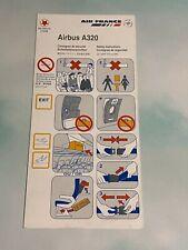 Air France Airbus A320 Safety Card - 1/08