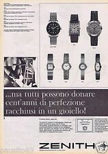 Publicité Advertising 106 1968 Zenith montres homme et femme