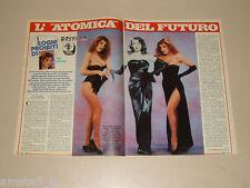 TINI CANSINO clipping articolo foto photo 1984 AT48 SOGNI PROIBITI DRIVE IN