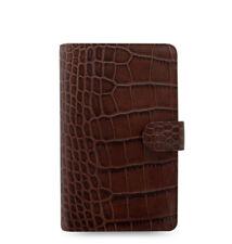 Filofax Classic Croc Compact Personal Size Organizer Chestnut Leather  026015