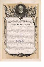"Robert E. Lee ""General Orders No: 9"" • Signed RE Lee"