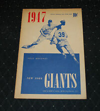 1947 New York Giants Baseball Program vs Boston Braves-Scored-EX+