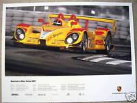 PORSCHE OFFICIAL RS SPYDER ALMS SCHEDULE RACECAR POSTER 2007