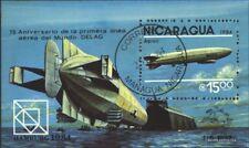Nicaragua Blocco 158 (completa Edizione) usato 1984 75 Anni Zeppelin